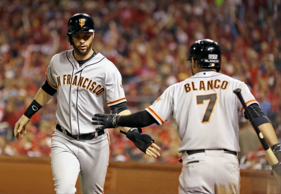 Brandon Belt, Gregor Blanco