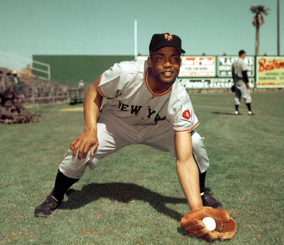 FILE- In this 1952, file photo, San Francisco Giants infielder Monte Irvin poses during spring training. Irvin, a Hall of Fame power-hitting outfielder who starred for the New York Giants in the 1950s in a career abbreviated by major league baseball's exclusion of black players died Monday night, Jan. 11, 2016, of natural causes at his Houston home. He was 96. (AP Photo/File)