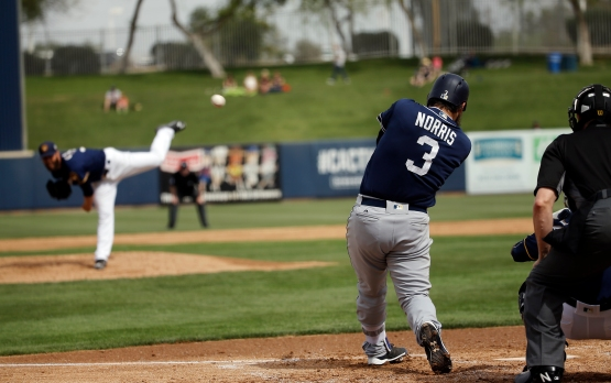 Padres Brewers Spring Baseball