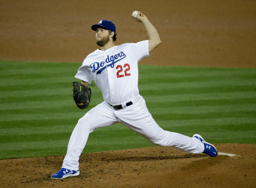 Los Angeles Dodgers starting pitcher Clayton Kershaw throws during the sixth inning of a baseball game against the New York Mets in Los Angeles, Thursday, May 12, 2016. (AP Photo/Chris Carlson)