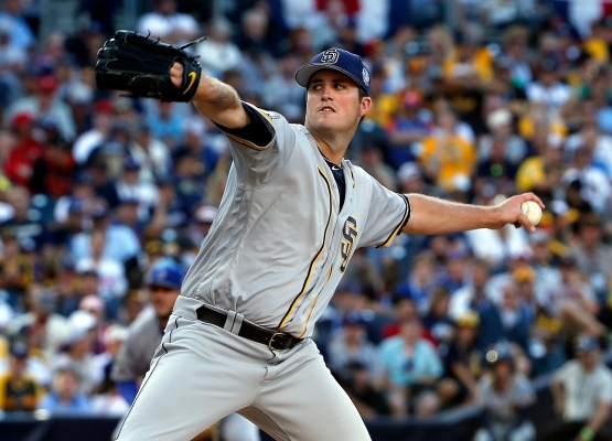 National League's Drew Pomeranz, of the San Diego Padres, throws during the fourth inning of the MLB baseball All-Star Game, Tuesday, July 12, 2016, in San Diego. (AP Photo/Lenny Ignelzi)